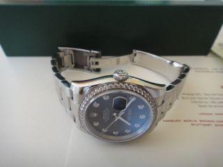 Rolex Datejust 36mm Stahl Mit Brillianten Bild