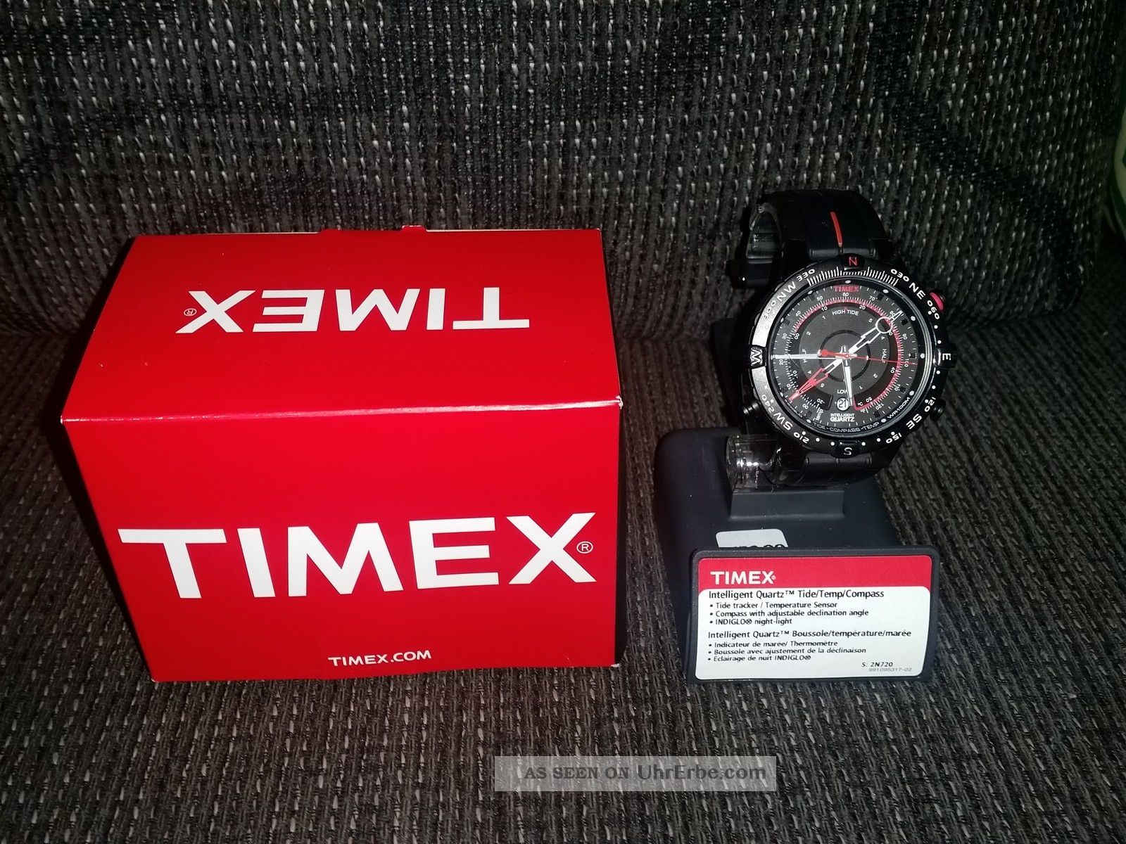 Timex T2n720 Iq E - Tide Schwarz Armbanduhren Bild