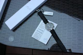 Edle M & M Swiss Herren Uhr Chronograph Clock Chrono Mit Box Und Papieren Bild