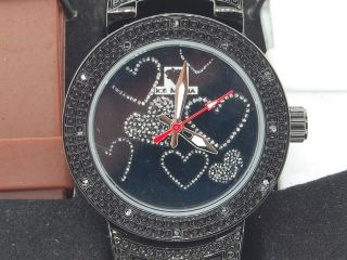 Damen Ice Mania Jojo Jojino Joe Rodeo Diamant Uhr Master Herz - Schwarze Iml5018 Bild