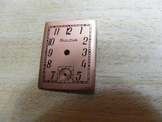 Bulova Zifferblatt In Kupfer Farben Bild