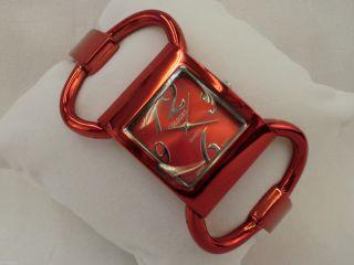 Modische Damenuhr Colours Armbanduhr Analog Quarz - Uhr Rot Hochwertig Bild