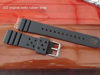 Seiko Gummi Taucher Armband 22mm Z22 Z - 22 7s26 - 0040 7s26 - 0170 Skx413j1 Skx4 Bild