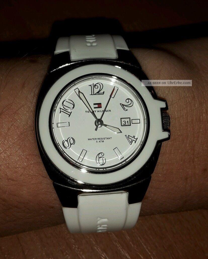 Tommy Hilfiger Armbanduhr / Analog / Weiß / Silikonarmband Armbanduhren Bild