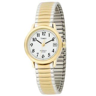 Timex T2h491,  Damen Zwei Ton Stahlarmband,  Weiß Zifferblatt Uhr Bild