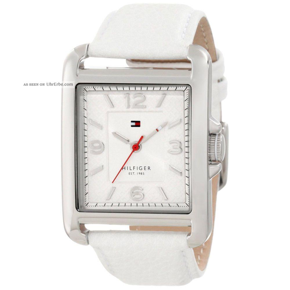 Tommy Hilfiger 1781197 Damen Silber Zifferblatt Lederarmbanduhr Armbanduhren Bild