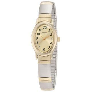 Timex T2m443 Frauen Gold Zifferblatt Two Tone Expansion Armband Uhr Bild