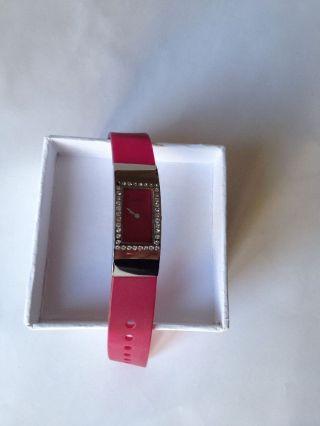 Guess Armbanduhr.  Damen Uhr.  Pink Strass Bild