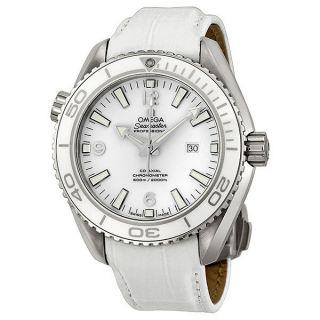 Armbanduhr Omega 232.  33.  38.  20.  04.  001 Seamaster 600m 37mm Weiß Leder Uhr Bild