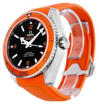 Omega Seamaster Planet Ocean 232.  32.  46.  21.  01.  001 Männer Orange Uhr In Kasten Bild