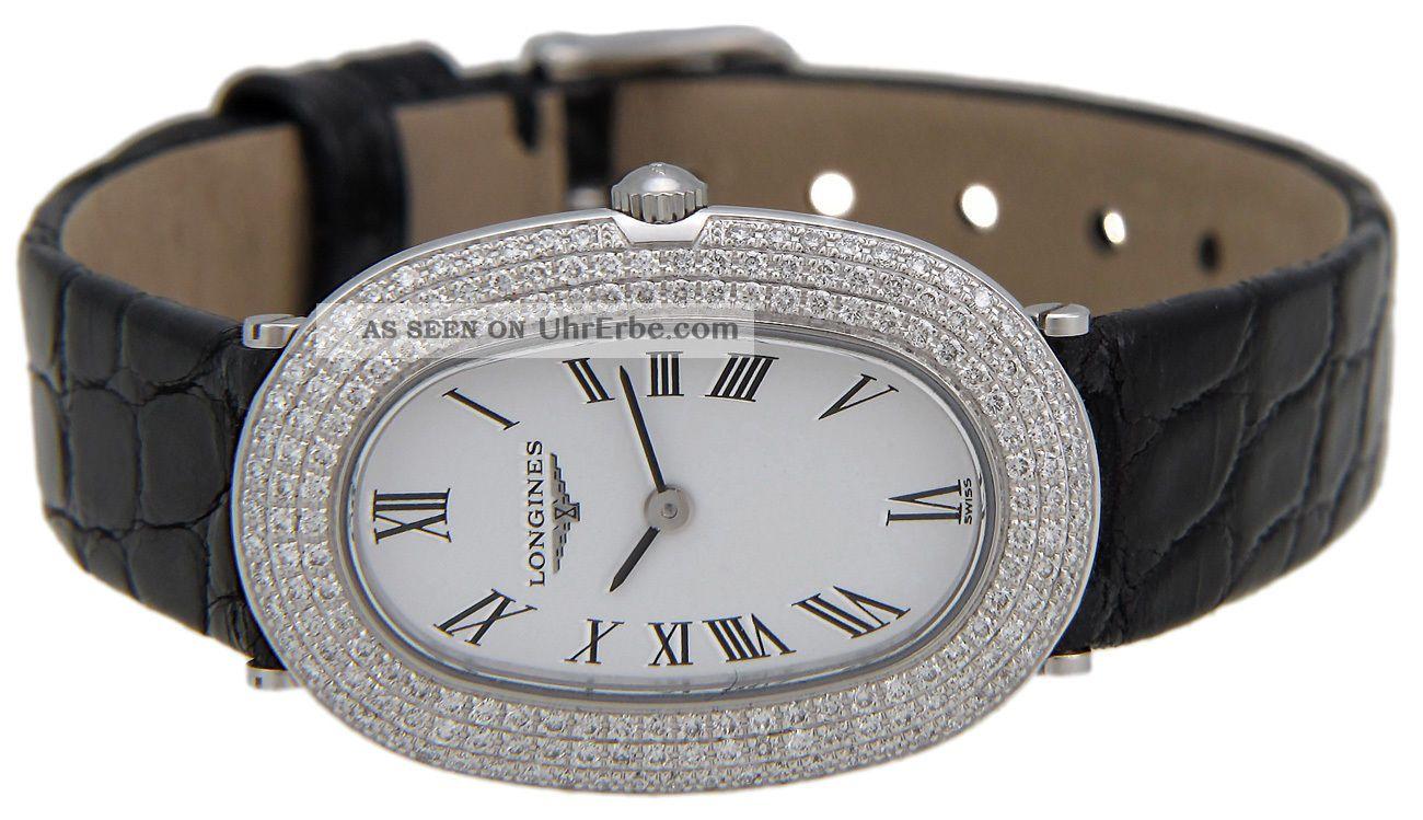 Longines Prestige 18kt Weißgold & Diamant Frauen Strap Luxusuhr L42257182 Armbanduhren Bild