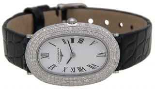 Longines Prestige 18kt Weißgold & Diamant Frauen Strap Luxusuhr L42257182 Bild