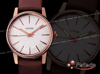 Fafada Sinobi Mode Damenuhren Armbanduhr Quarzuhr Analog Uhr Uhren Weiß Pu Bild