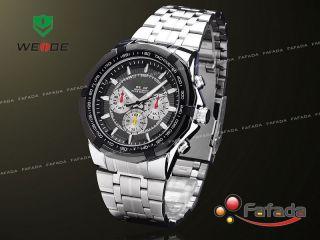 Fafada Elegant Quarz Armbanduhr Herrenuhr Analog Uhr Uhren Schwarz Bild
