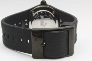 Armbanduhr Damen Puma Sharp Schwarz Kristall Ziffernblatt Logo Gummiband Bild