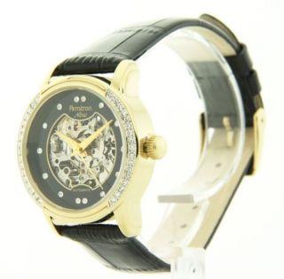 Uhr Automatisch Damen Gold 75 - 3722bkgpbk Armitron Swarovski Kristall Einfassung Bild