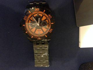 Detomaso Herren - Armbanduhr Xl San Marino Multifunction Orange/black Analog Autom Bild