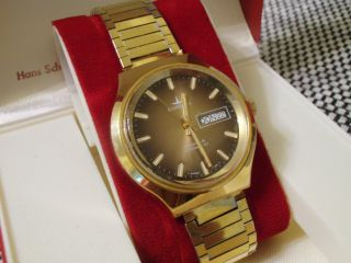 Alte Dugena Tropica Automatic Herren Uhr Mit Ovp Aus Nachlass Bild