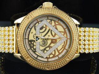Herren Eis Mania Jojino Joe Rodeo Diamant Watch 6 Reihe Eigener Gelb Band Im3017 Bild
