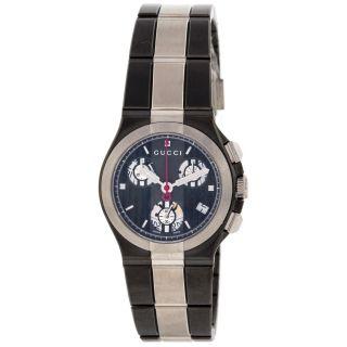 Armbanduhr Gucci Ya124402 Edelstahl Titanium Quartz Uhr Damen Bild
