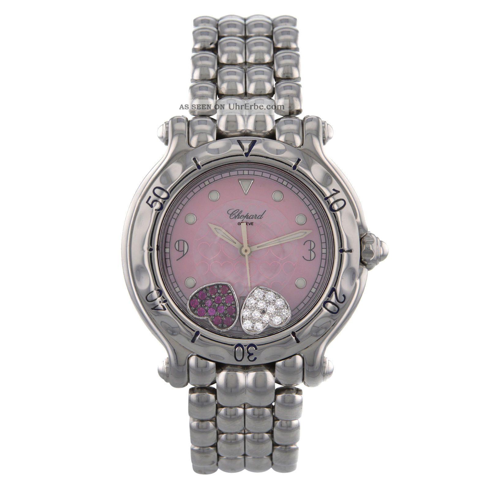 Armbanduhr Damen Uhr Chopard Happy Sport Diamant Herzen Armbanduhren Bild