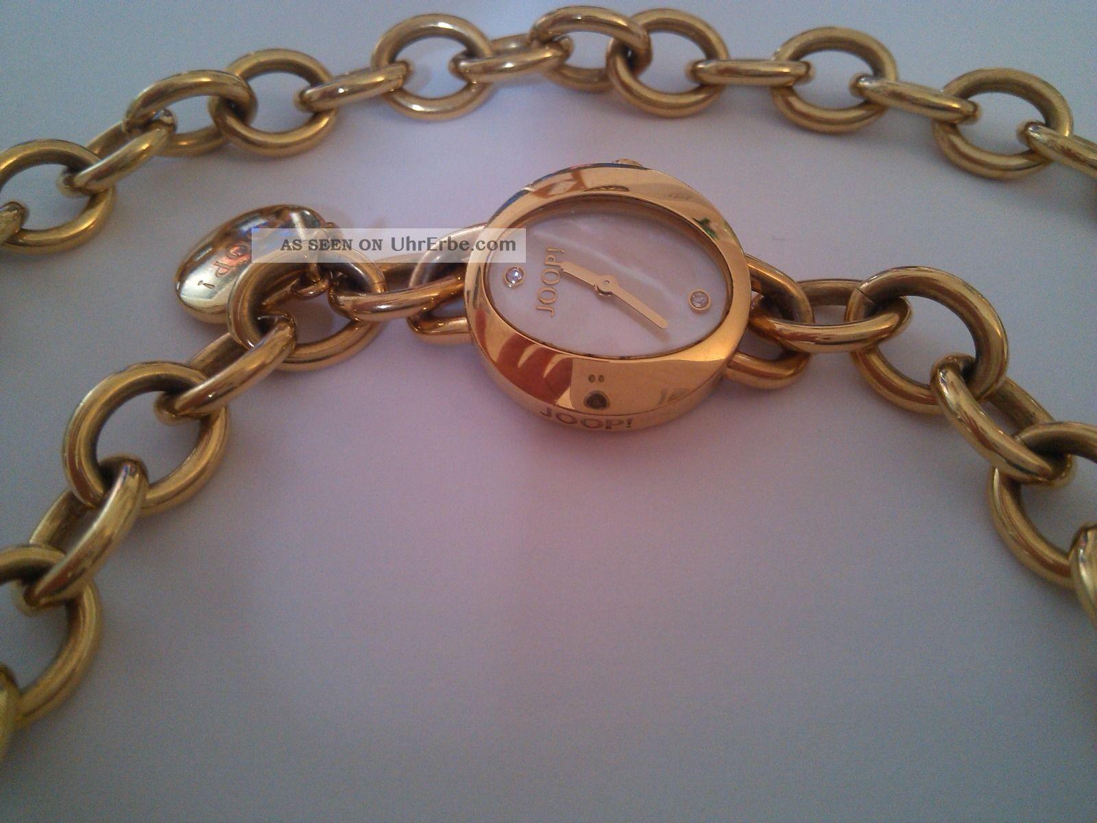 Joop Tl4482 Damenuhr Vergoldet Mit Kette Armbanduhren Bild