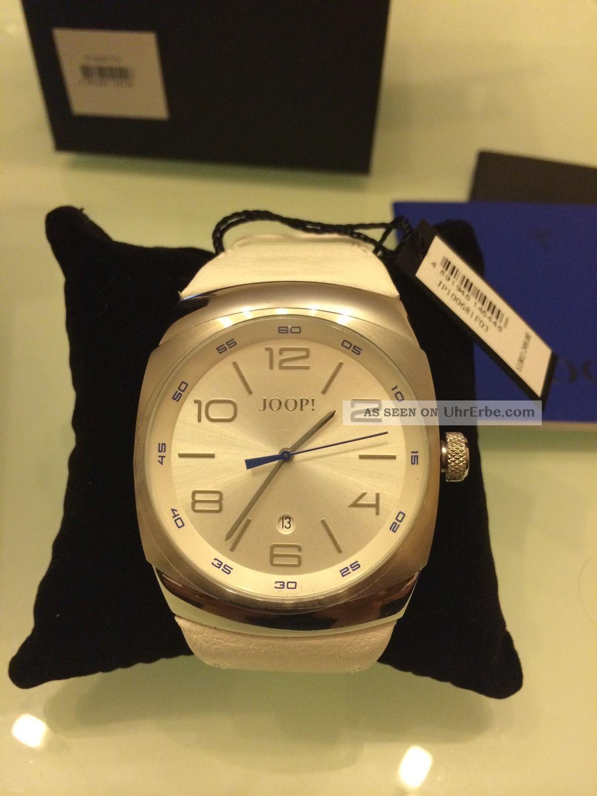 Joop Odyssey Herrenuhr Jp100681f03 Geschenkbox Weißes Lederarmband,  Np;249€ Armbanduhren Bild