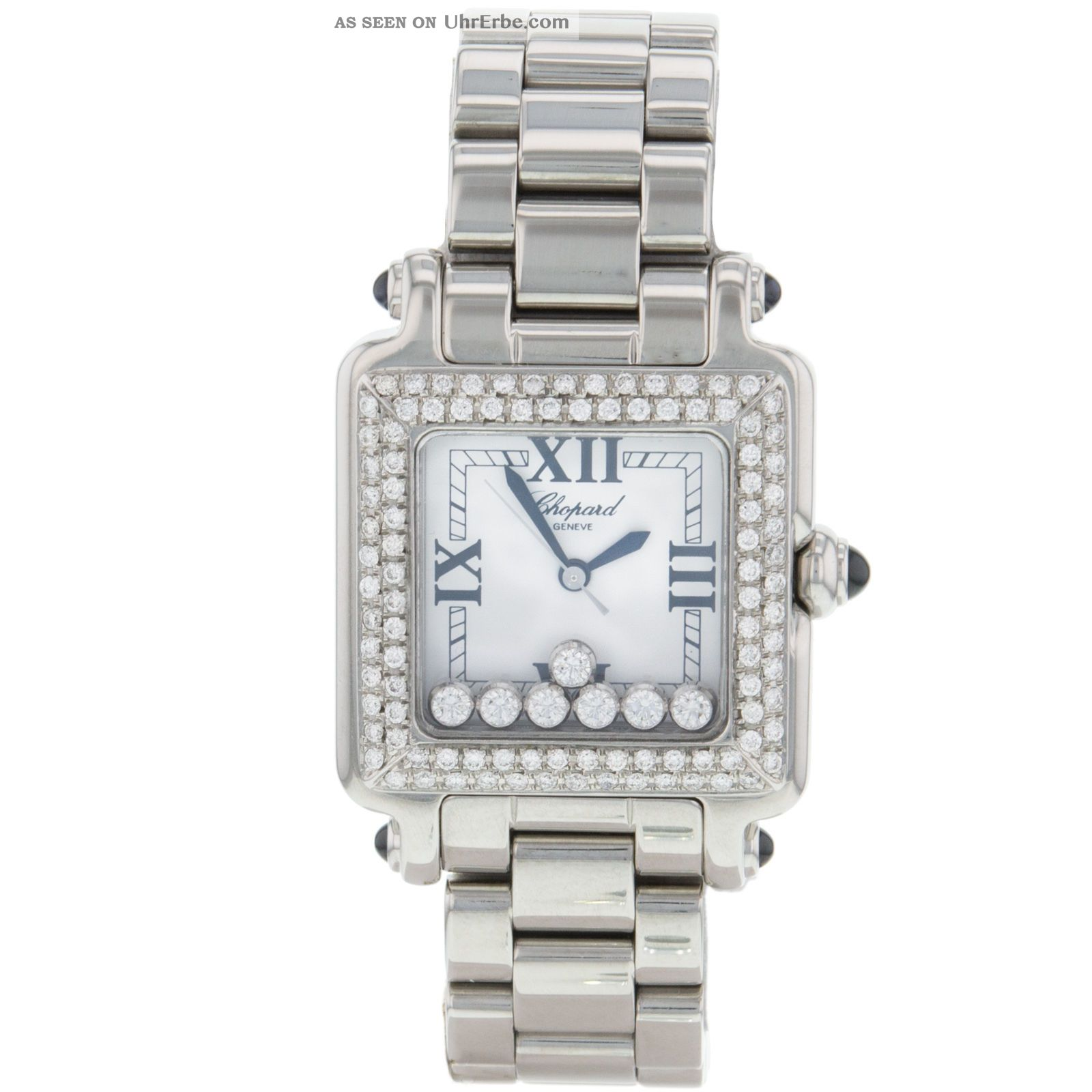 Damen Uhr Armbanduhr Chopard Happy Sport 7 27/8349 - 23 Diamanten Armbanduhren Bild