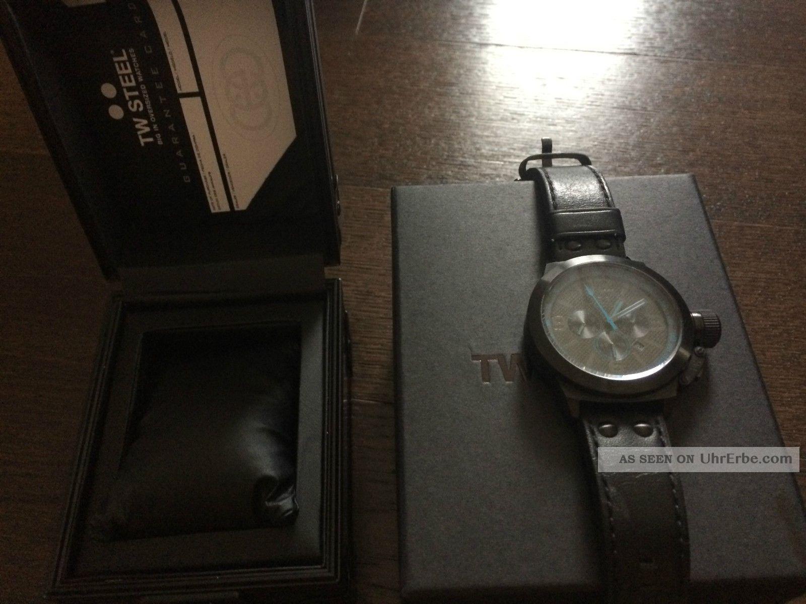 Tw Steel Canteen Style Chrono Tw - 904 Xl Uhr 45 Mm Armbanduhren Bild