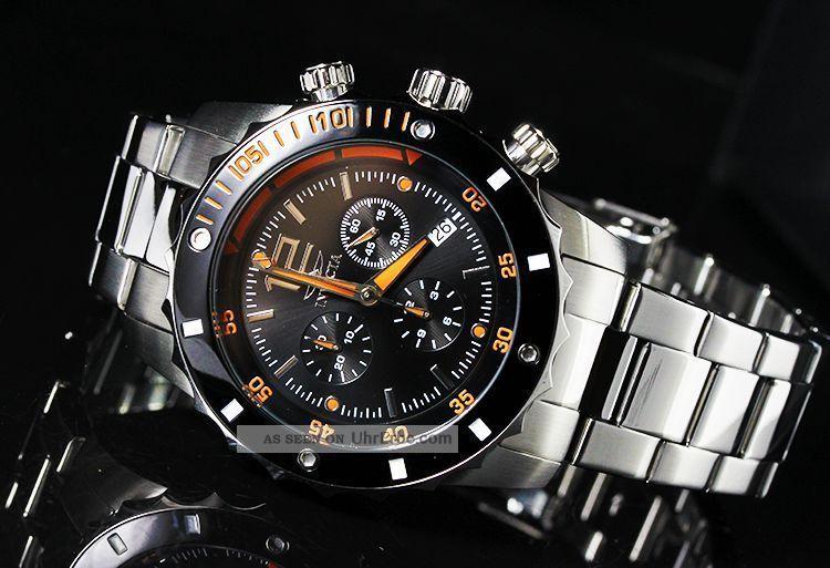 Invicta Einzeigeruhr Herren,  Edelstahl Armbanduhren Bild