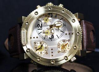 Marc Ecko Herren Der Burner Chronograph Gold - Ton - Fall Dreiertakt Leder Uhr Bild