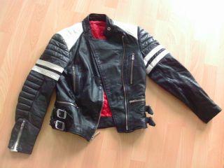 Schwarze Echte Leder Damen Bikerjacke,  Style Dolce And Gabbana D&g,  Gr.  S,  Xs Bild