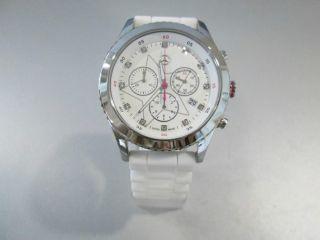 Armbanduhr Damen,  Sports Fashion,  Edelstahl/kautschuk,  Pink/weiß Bild