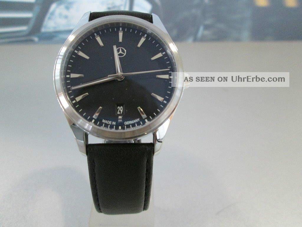 Armbanduhr Unisex,  Elegant Basic,  Schwarz/silber,  Edelstahl/kalbsleder Armbanduhren Bild