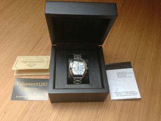 Calvaneo Saphiron Herren Mit Saphiren Echtheitzertifikat Armbanduhr Bild