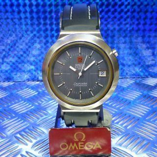 Vintage Omega Stimmgabel Seamaster Chronometer Date 41 Mm Stahl F300 Hz Herren Bild