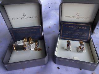 Weihnachten Luxus Armband U.  Ohrringe V.  Philippe Charriol Paris Bild