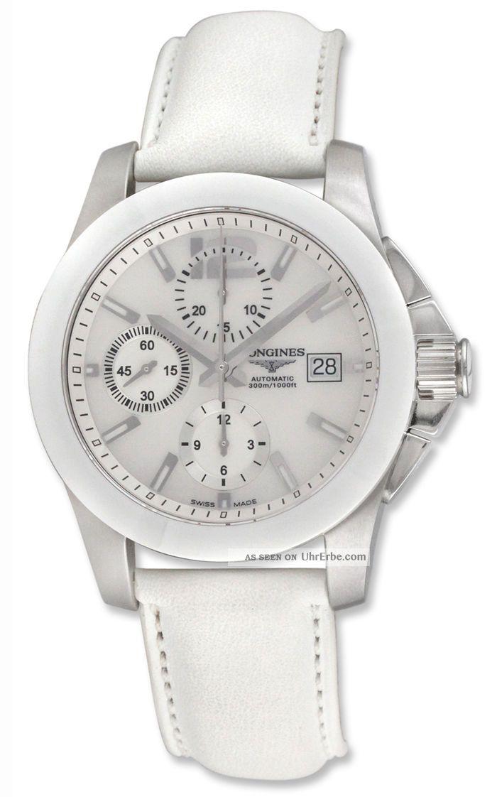 Longines Conquest - Automatisch Herrren Chronograph Stahl Keramik Datum L36614860 Armbanduhren Bild