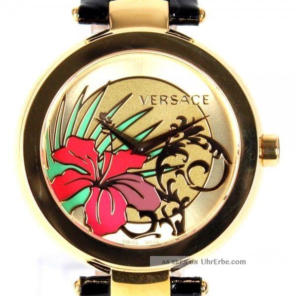 Versace Damenuhr Mystique Golden Sunray Armbanduhren Bild