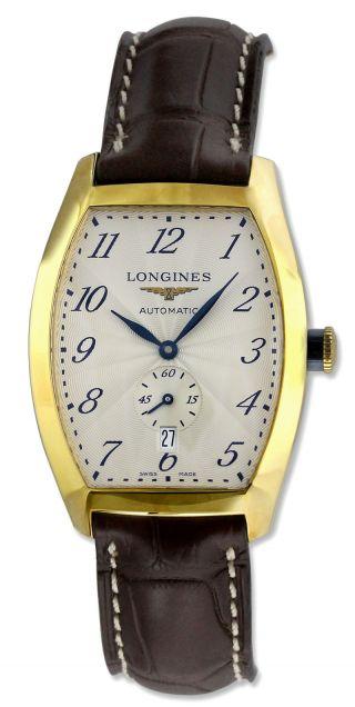 Longines Automatik - 18k Gold Herren Armband Aus Alligatorleder Uhren Bild