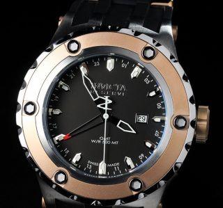 Invicta Herren Reserve Subaqua Specialty Swiss Made Gmt 18 Karat Plattiert Uhren Bild