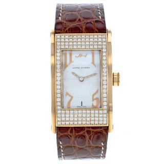 Jorg Hysek Ki21r30 18k Gelbgold Fabrik Diamant Quartz Damen Armbanduhr Bild