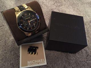 Michael Kors Uhr Mk 8265 Chronograph Gold/schwarz Unisex Bild