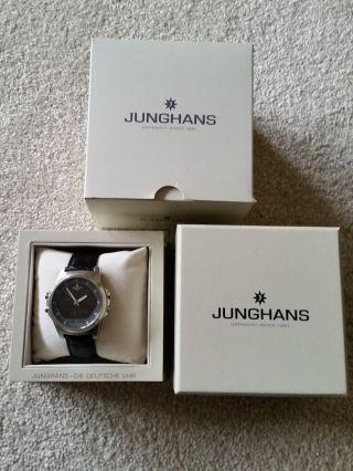 Junghans Mega Chronograph Herrenuhr Lederarmband Ovp Bild