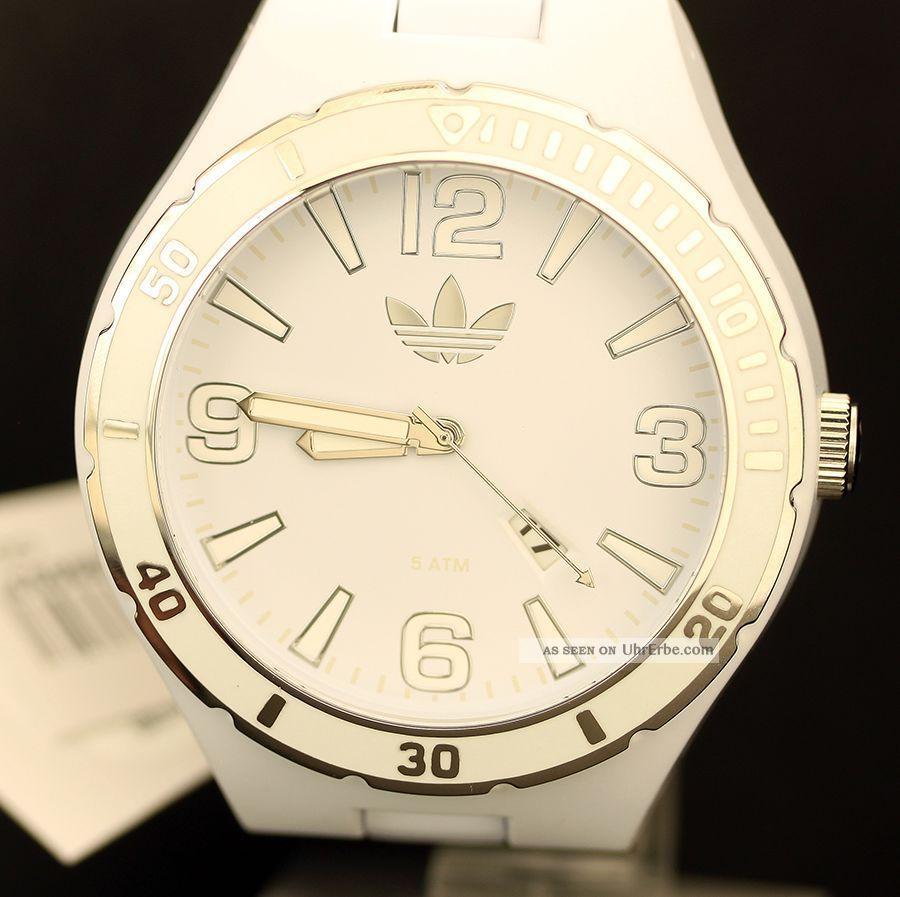 Adidas Männer Frauen Melbourne Originals Weißen Zifferblatt Kunststoff - Gehäuse Armbanduhren Bild