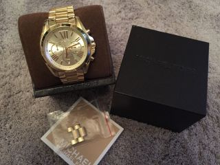 Michael Kors Uhr Mk 5605 Chronograph Gold Herren/damen (unisex) Bild