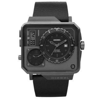 Diesel Herrenuhr Zeitzone Analog Digital Dz7241 Leder Armbanduhr Bild