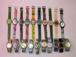 20 Swatch Gent Uhren Aus Sammlung Mit Neuen Batterien Bild
