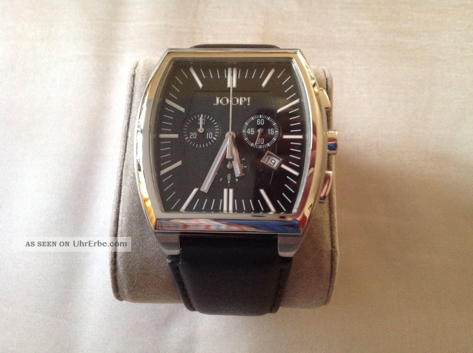 Joop Herrenchronograph - Schwarzes Zifferblatt - Lederarmband - Aus Uhrensammlung Armbanduhren Bild