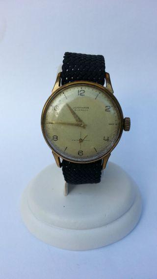 Alte Junghans Herren Armbanduhr Handaufzug,  Sammleruhr Vintage Antik Bild